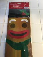 Happy Holidays Plastic Gingerbread Man Goody Bags, 8 Count.