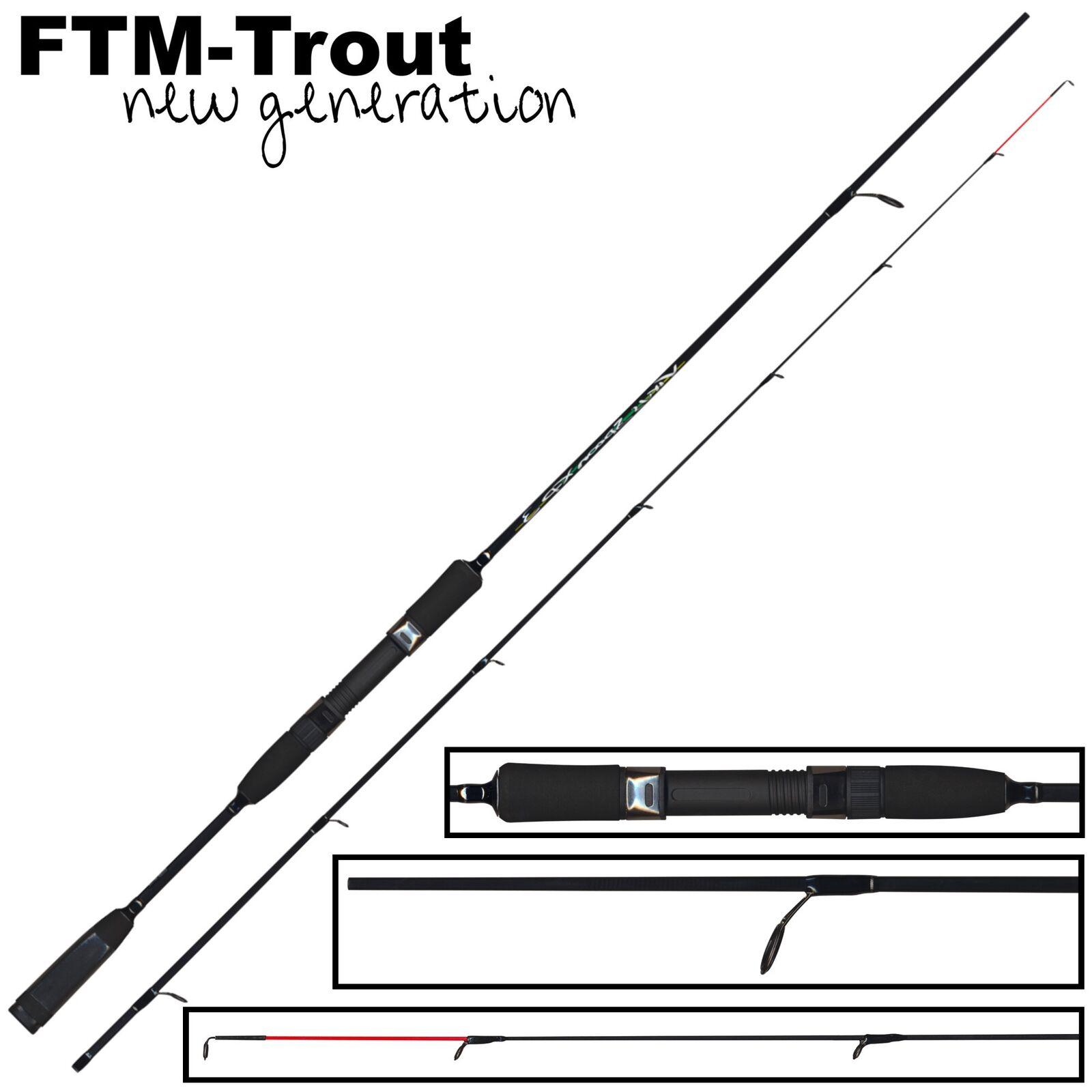 FTM Virus Spoon XP 3 2,20m 2-10g - Forellenrute zum Spinnfischen, Spinnrute