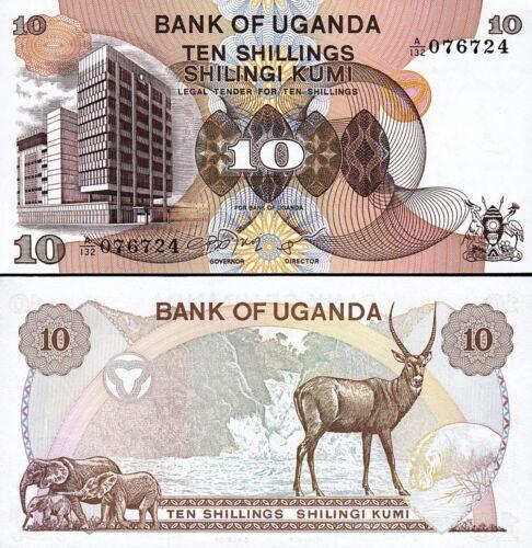 UGANDA 10 SHILLINGS 1979 UNC P 11b