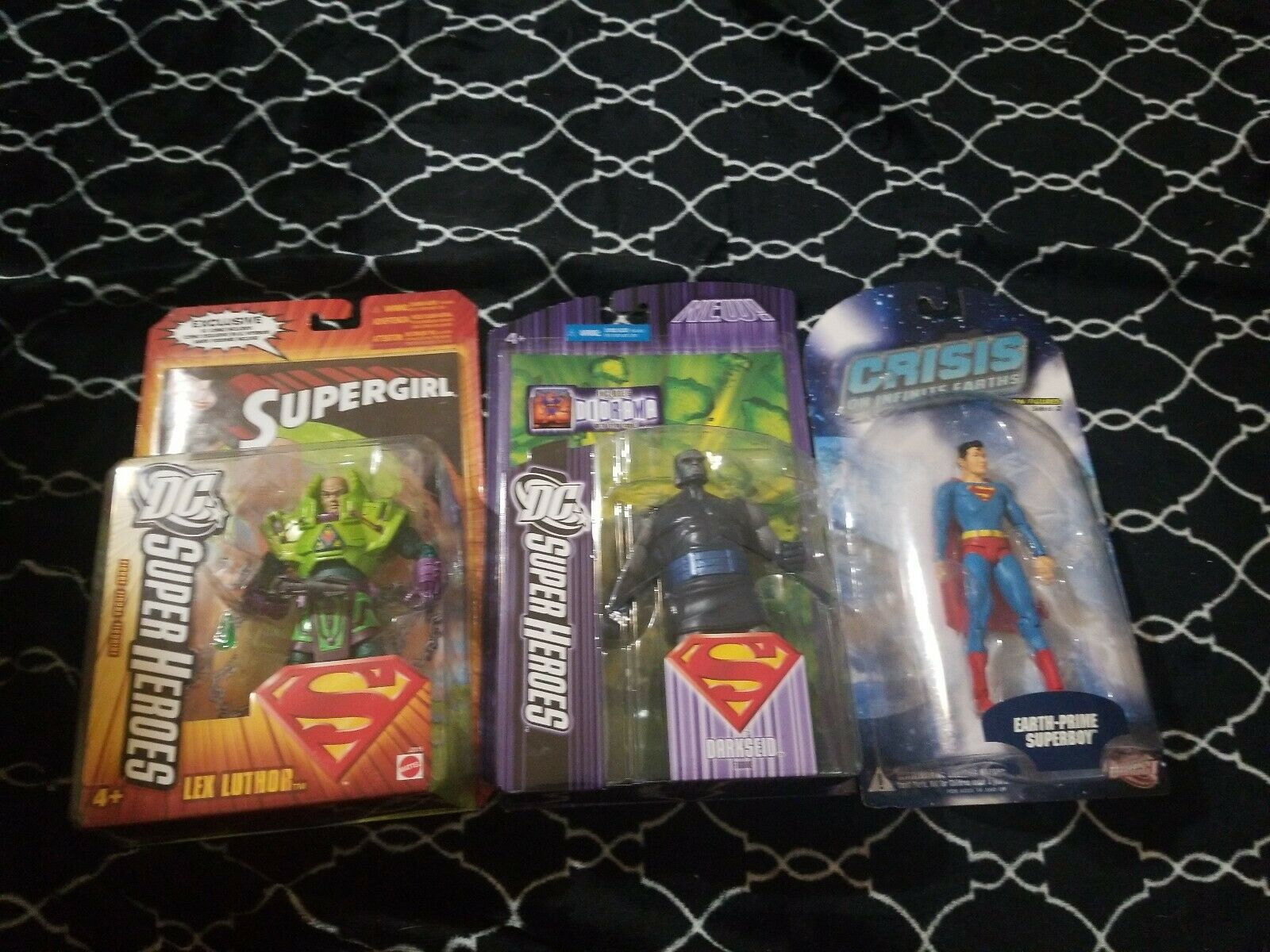 DC SUPER EROI LOTTO NERO Darkseid, Lex Luthor e SUPERBOY cifra