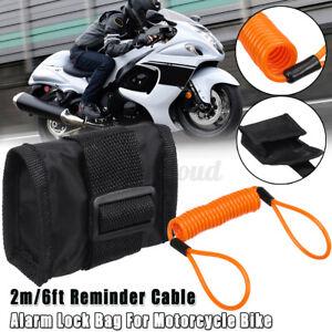 1.5m//5ft Reminder Cable Alarm Lock Bag Motorcycle Bike Sport Scooter AT