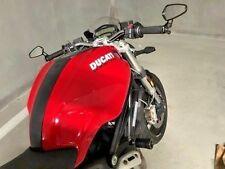 Pair Black CNC Aluminum Custom Handle Bar End Rear View Side Mirrors For Ducati
