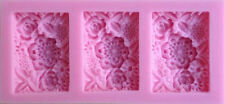 Flower 3 sectioned Square Box Silicone Mold - NEW