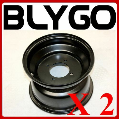 "2X Black 19X7.00-8"" Inch Small 4 Stud Front Wheel Rim Quad Dirt Bike ATV Buggy"