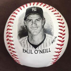 Paul O Neill 1996 BURGER KING Give Away Photo Ball NY YANKEES ... eb39c11b891