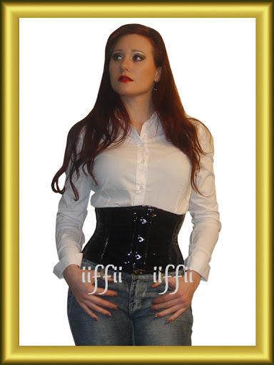 Taillen korsett corsage aus PVC Lack  Gr 34~56