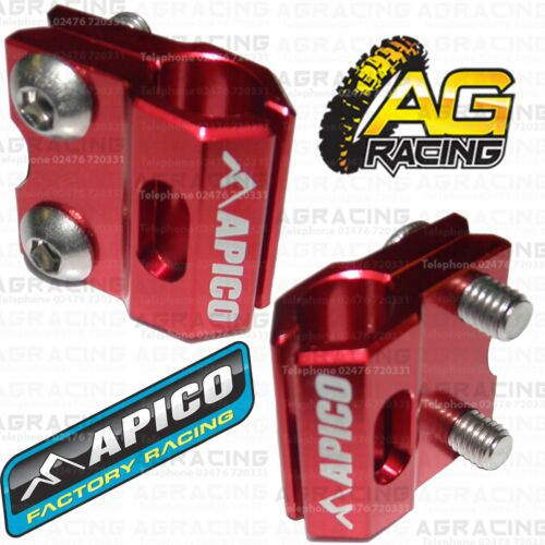 Apico Red Brake Hose Brake Line Clamp For Honda CR 250 1996 Motocross Enduro