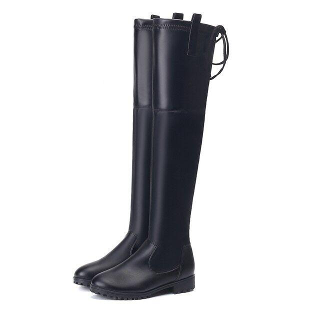 stivali stivaletti ginocchio 3 cm scamosciati nero eleganti simil pelle 9570