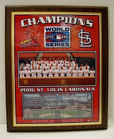 St. Louis Cardinals 2006 World Series Championship Plaque by Healy Awards