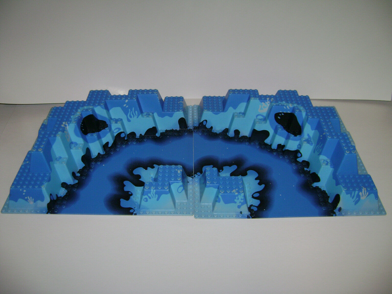 Vintage Lego Raised Base Plate 32X32 6024 Neptune Discovery Lab Blau Lot Of 2