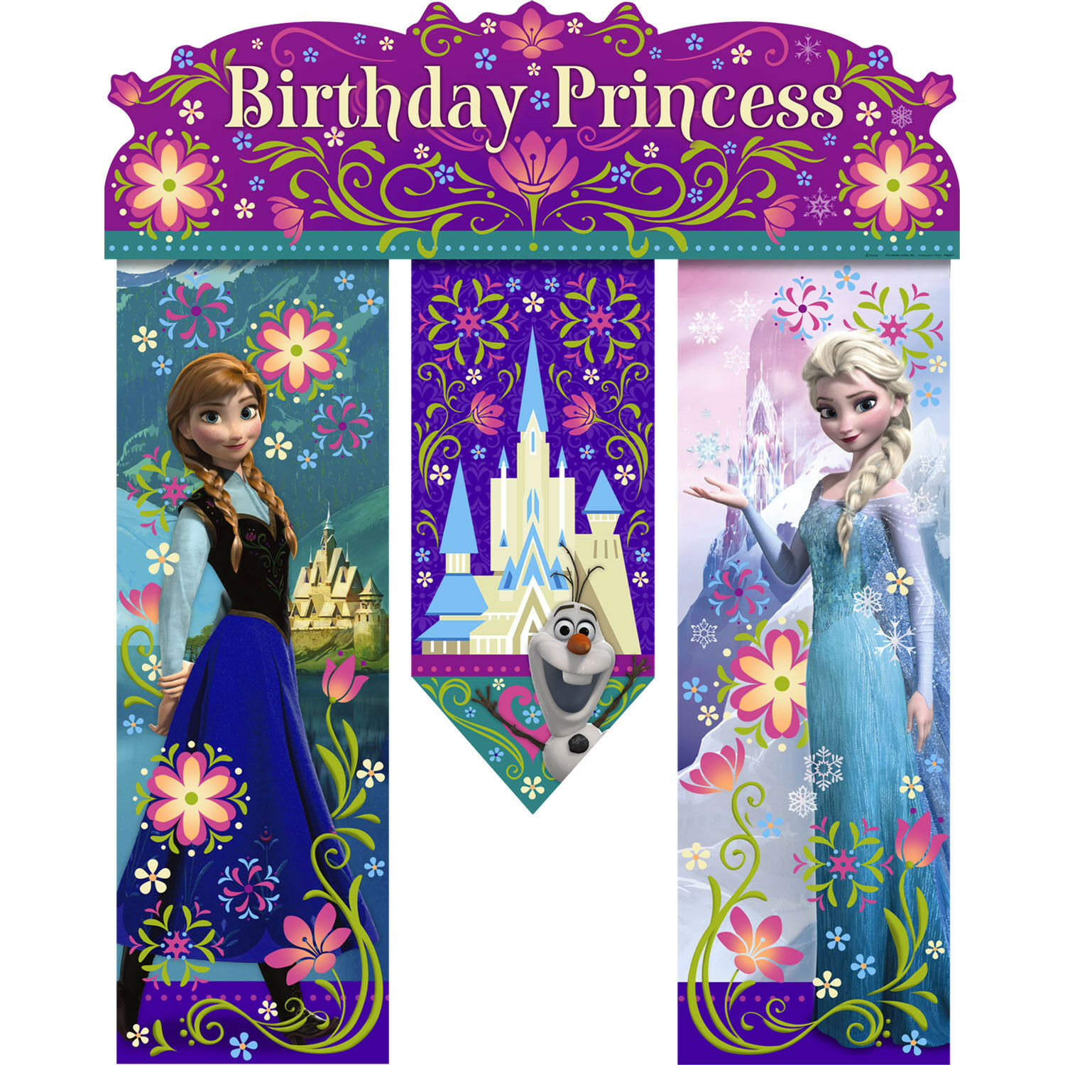 Personalized Banner Any Size Banner Birthday Banner Disney Frozen Castle Photo Booth Birthday Backdrop Frozen Anna