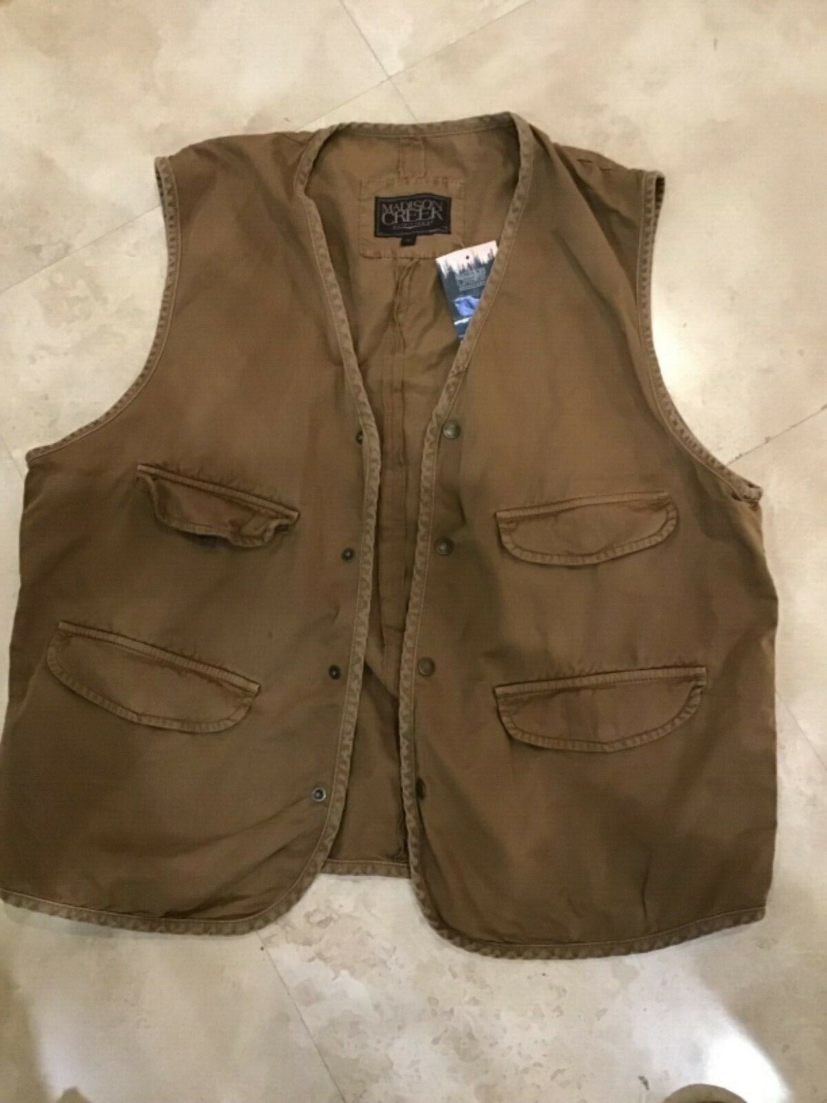 Madison Creek Outfitters Outdoor Vest Men's Size XL BROWN  RETAIL-125.00 NWT