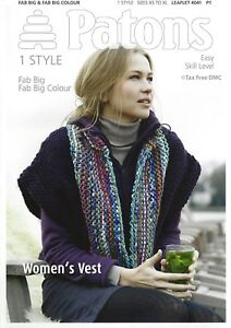 029243c77362 VAT Free Knitting PATTERN ONLY Patons Women s Lady s Vest Fab Big ...