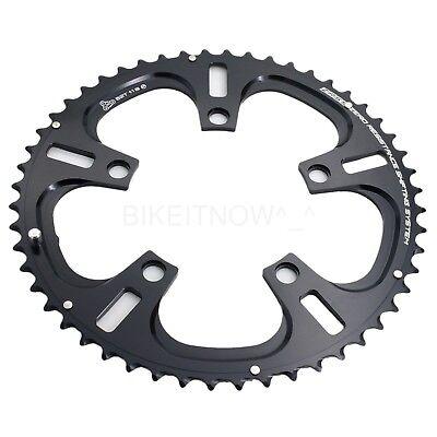 Driveline Chainring 52T 7075//T6 BCD 110MM Black,fit 2x10 Speed,Road,CX Bike