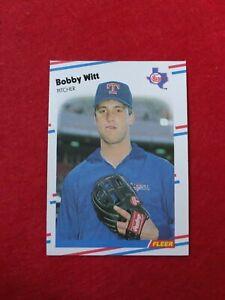 BASEBALL-TRADING-CARD-FLEER-1988-483-BOBBY-WITT-SS63