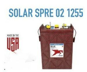 6X-TROJAN-BATTERIES-SOLAR-SPRE-02-12555-2-VOLT-1-255Ah-DEEP-CYCLE-FLOODED
