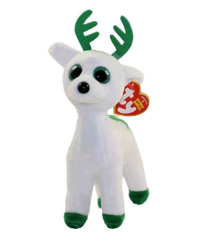 dd2347c5aff Ty Beanie Babies 37237 Peppermint The Christmas Reindeer for sale online