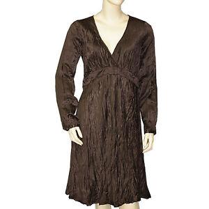 Chargement de l image en cours CHIPIE-Robe-soie-femme -RENATA-marron-taille-36 978a679bdf0c