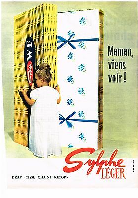 Other Breweriana Intellective Publicite Advertising 1963 Sylphe Leger Draps Breweriana, Beer