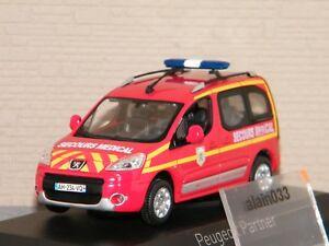 PEUGEOT-PARTNER-2010-Pompiers-secours-medical-NOREV-1-43-Ref-479818