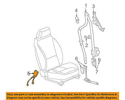 GM OEM Front Seat Belt-Buckle 19208285