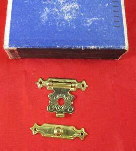 Schliessblech Verschluß für Schatulle Schachtel Kistel aus Schachfabrik Erzg.