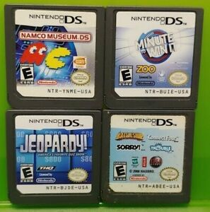 Nintendo-DS-Lite-2ds-3ds-Game-Lot-Namco-Museum-Minute-Win-It-Jeopardy-Sorry