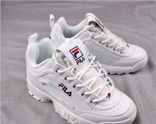 Hot FILA Disruptor II 2 White Authentic Shoes Unisex Size eur35-44 2