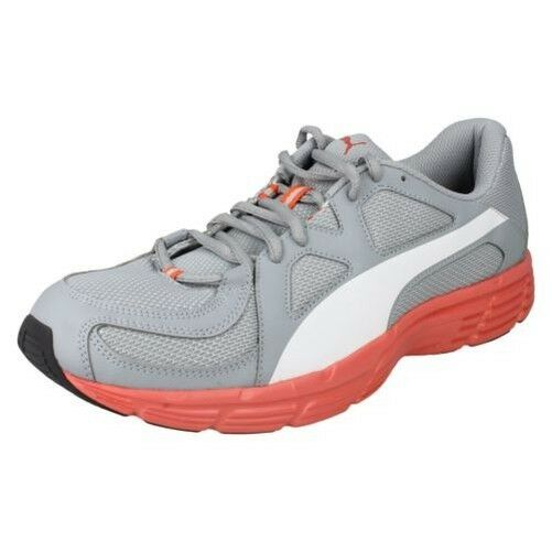 Ladies Puma Casual Rounded Toe Lace Up Synthetic Trainers Axis V3 Mesh 357727