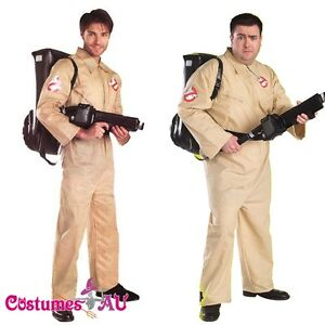 Licensed-Mens-Ghostbusters-Costume-Adults-GHOST-BUSTERS-80s-1980s-Fancy-Dress