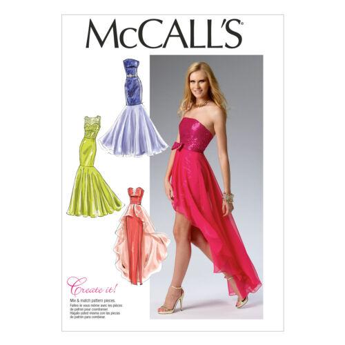 McCall/'s 6838 versátil patrón de costura para hacer vestidos de noche con deshuesado camisolas