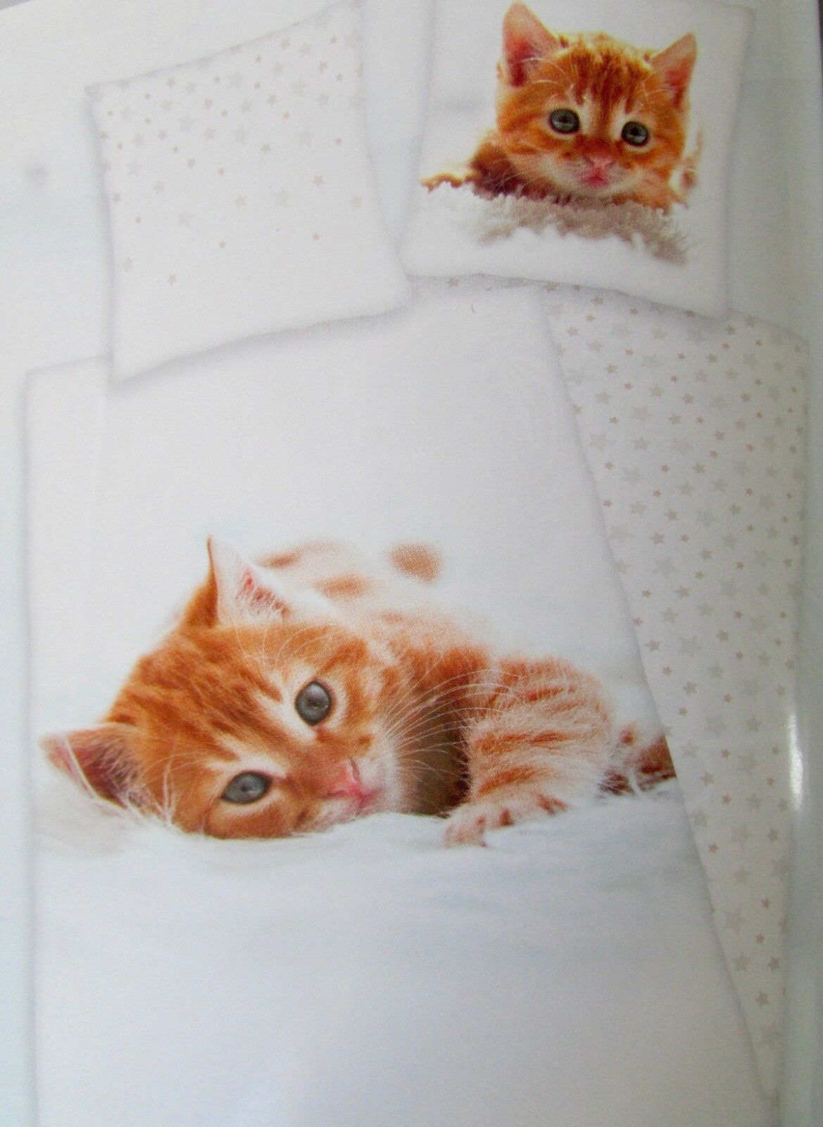 Ensemble Literie Chaton Duvet Set Litterie 100% Coton