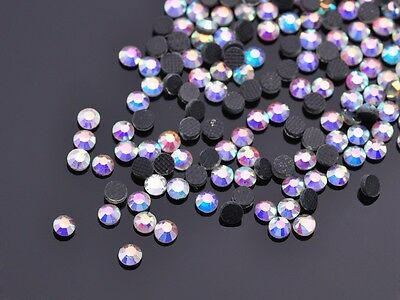 1440pcs 3mm SS10 Iron On Hot fix Faceted Crystal Glass Loose Flatback Rhinestone