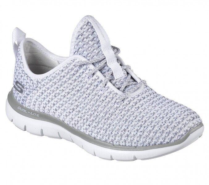 Skechers Flex Appeal 2.0 Bold Move scarpe da ginnastica Donna Casual Scarpe Grigio Nuovo