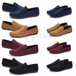 Uomo-Scarpe-Mocassino-Scamosciato-Pelle-Slip-on-Sneakers-Infilare-Guida-Casual