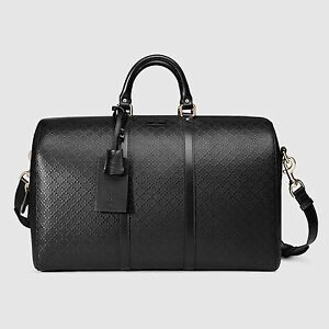 218f5f669eb Image is loading Gucci-Bright-Diamante-Leather-Carry-On-Duffel-Bag-
