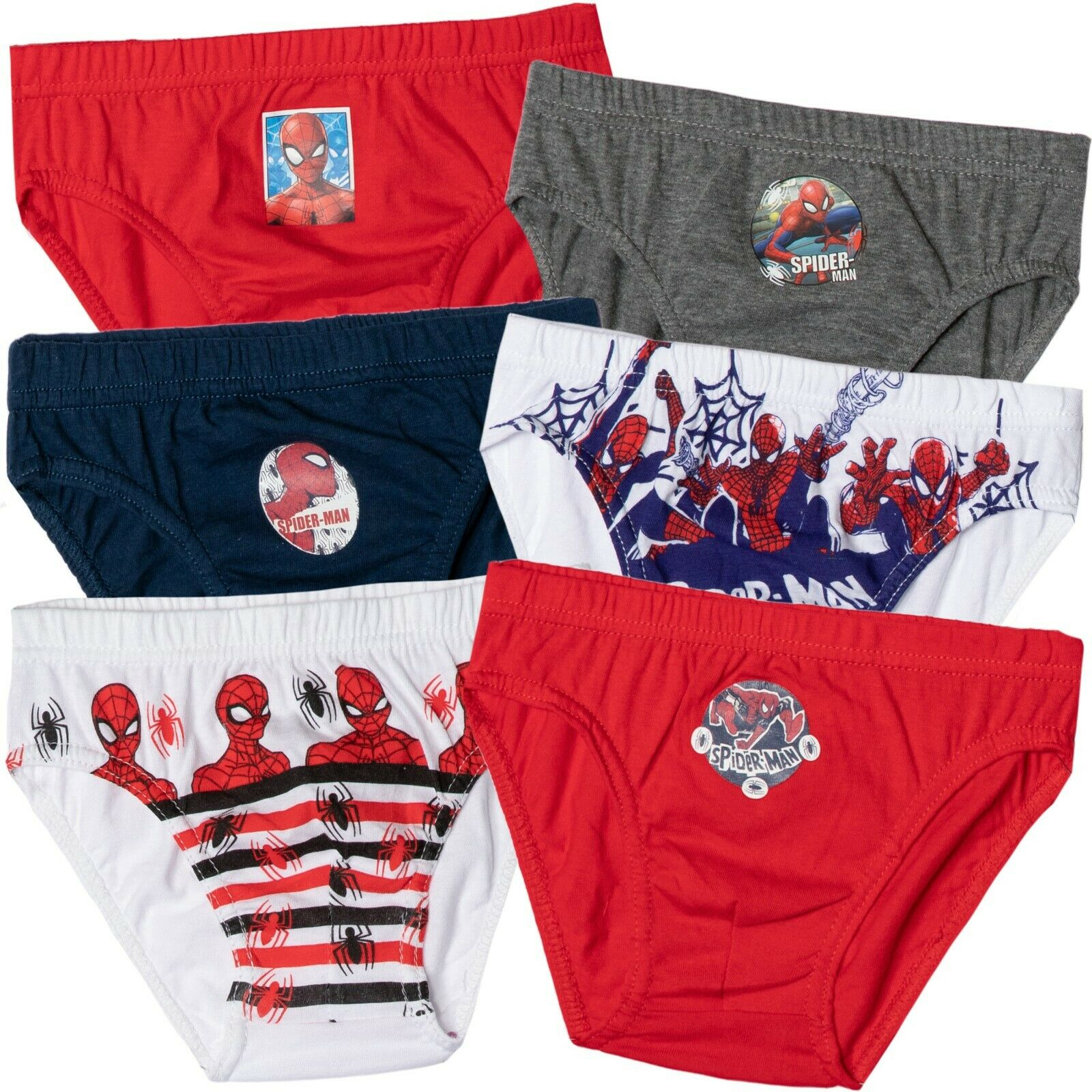 Marvel Spiderman Spidey Boys 6 Pack Briefs Underpants
