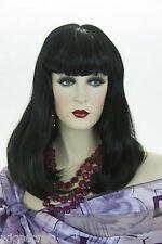 Black Brunette Long Medium Straight Skin Top Wigs