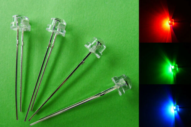 10pcs 5mm STRAW HAT RGB Slow Flash Wide Angle LED with 12V Free Resistors amy