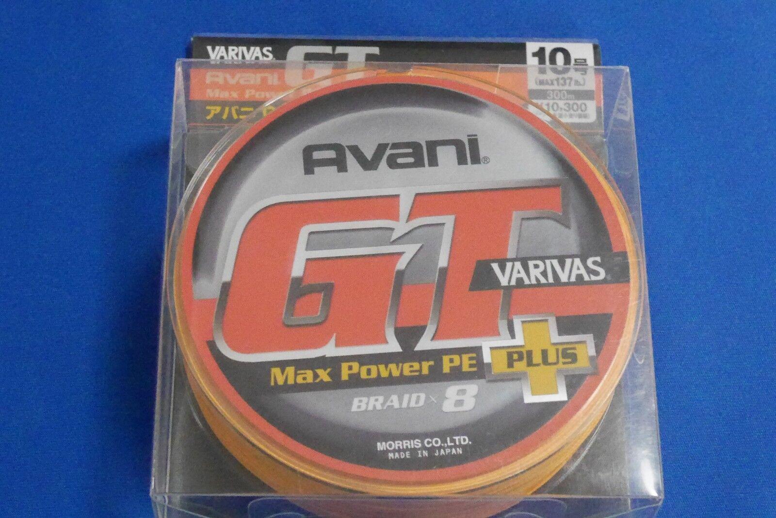 MORRIS PE Line VARIVAS Avani GT Max energia Plus 300m  10 137lb Fishing Line