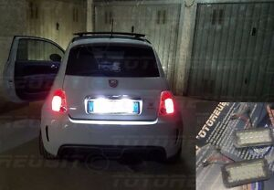 Plafoniere No Led : Coppia plafoniere led targa specifica fiat abarth c no