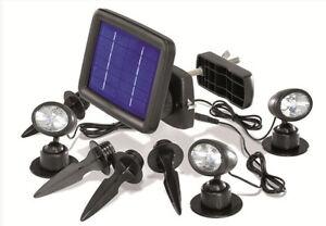 Faretto ad energia solare a led faro faretti da giardino luce