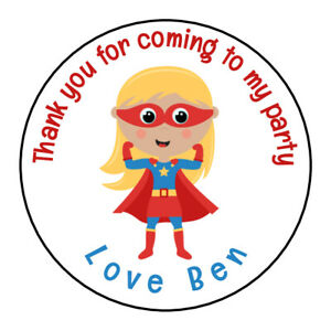 Personalised-Cute-Girl-Superhero-Birthday-Thank-You-Party-Stickers-Sweet-Cones
