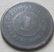 Straits Settlements 1 cent 1872 coin