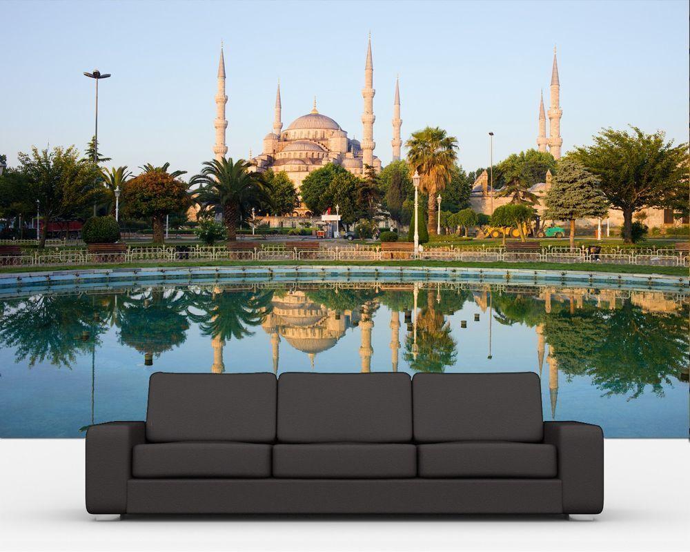Fototapete Sultan-Ahmet-Moschee in Istanbul -Türkei