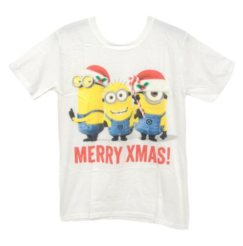 Nouveau blanc homme sous-fifres Joyeux Noël méprisable cadeau de Noël T-shirt Tee Taille S