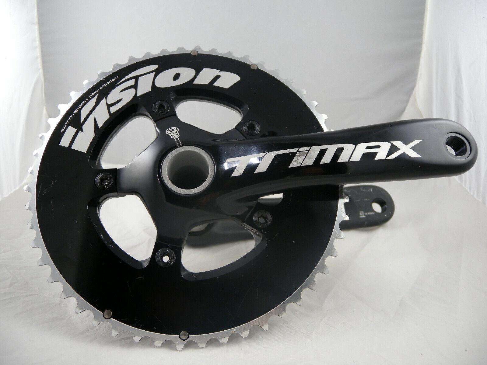 NEW FSA VISION TRIMAXPRO Crank Set Alloy TT 175mm 52//38