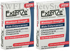 Extenze Maximum Strength - 2x 30ct Boxes | 60 Pills 2 Month Supply Male Enhancer