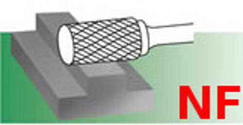 SA-6-NF Aluminum Cut Cylindrical Carbide Bur Rotary File burr non-ferrous