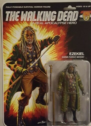 Sdcc 2017 Skybound Exclusive Walking Dead Shiva Force Blood Blood Blood Splatter Ezekiel 3f37b0